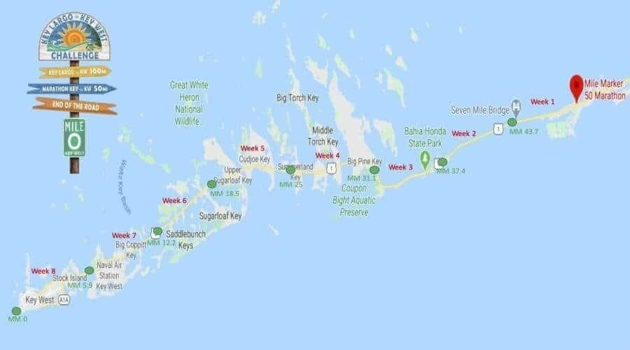 map of Marathon Key to Key West