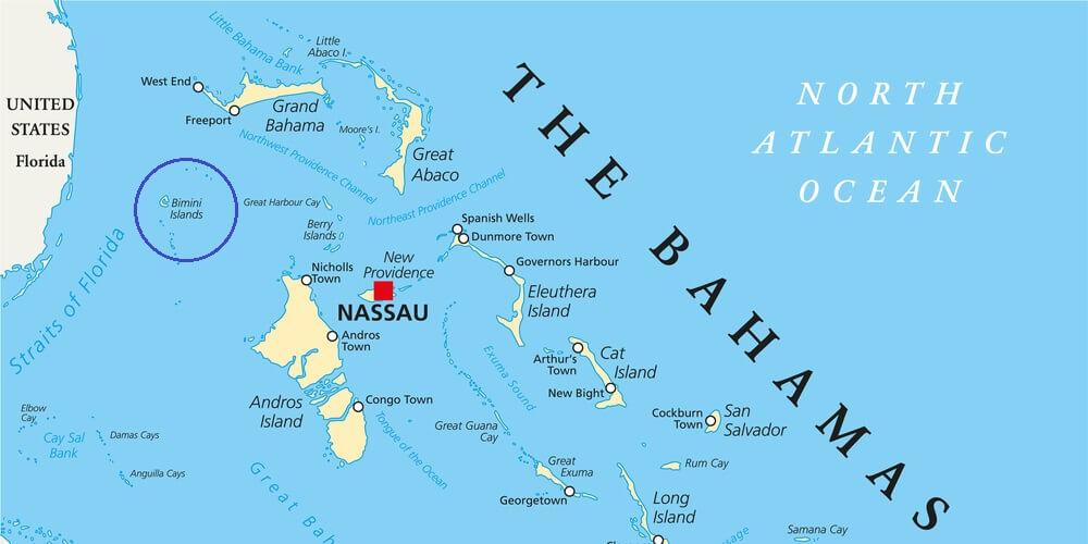 map of Cat Cay Bahamas