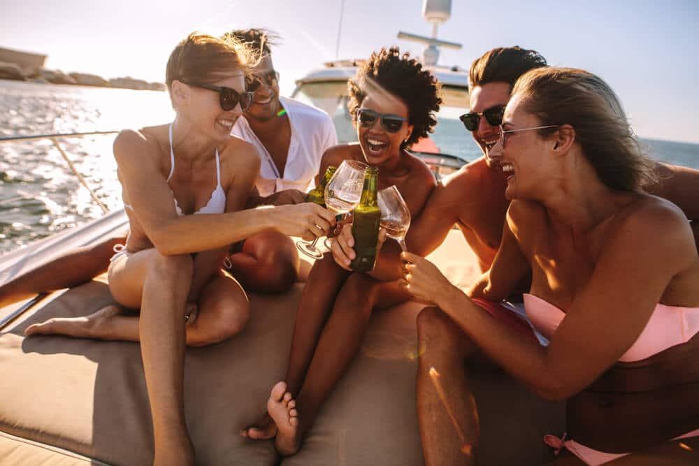 Fourth of July Birthday aboard Luxury Yacht