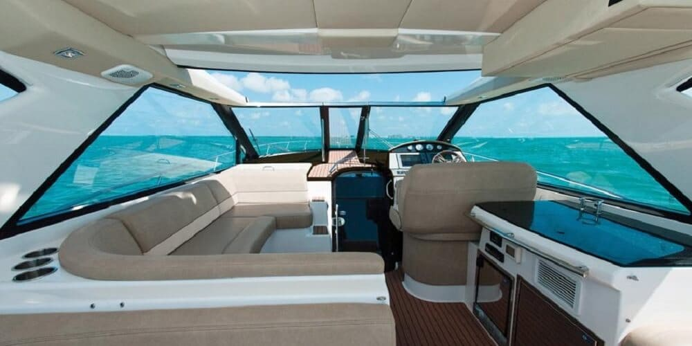 helm of Regal 46 sport coupe