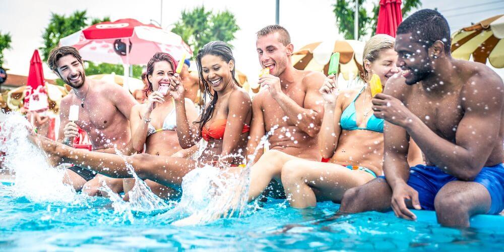 Key West bachelor party pool fun